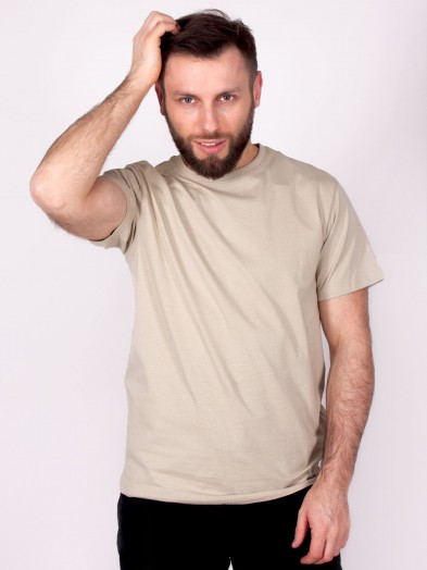 Podkoszulka t-shirt bawełniany męski khaki gładki