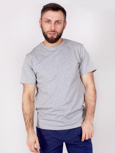 Podkoszulka t-shirt bawełniany męski szary melanż gładki