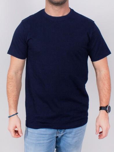 Podkoszulka t-shirt bawełniany męski granat gładki