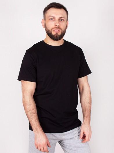 Podkoszulka t-shirt bawełniany męski czarny gładki