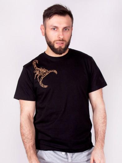 Podkoszulka t-shirt bawełniany męski czarny scorpion