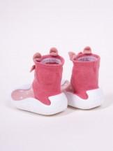 Skarpety z gumową podeszwą do nauki chodzenia z elementem 3D królik dziewczęce