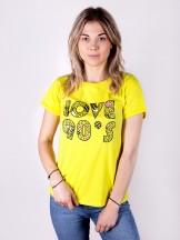 Podkoszulka t-shirt damski love90's żółty
