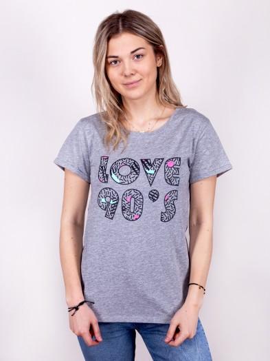 Podkoszulka t-shirt damski love90's szary