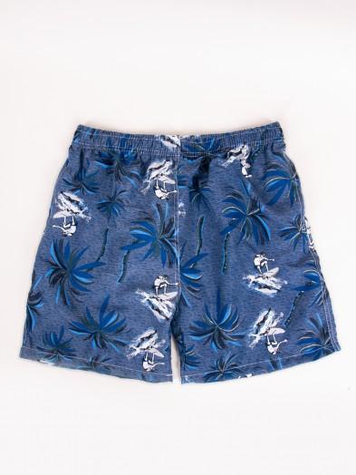 Szorty plażowe męskie w palmy