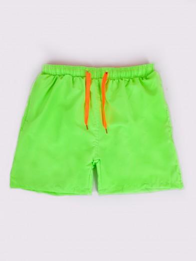 Szorty plażowe chłopięce neonowe zielone