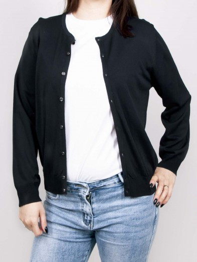 Sweter damski zapinany na guziczki czarny