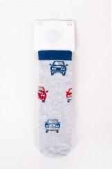 Skarpety chłopięce bawełniane 6PAK ze ściągaczem w autka