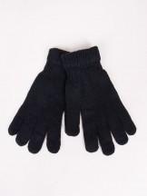 Rękawiczki męskie czarne klasyczne dziane