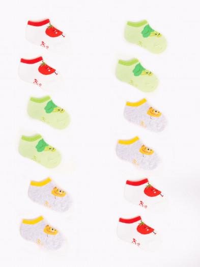 Skarpety stopki dziewczęce 6PAK w kolorowe warzywka