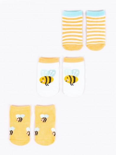 Skarpety dziewczęce pszczółki 3PAK