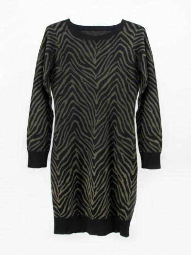 Tunika sweter damski długi czarny