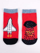 Skarpety chłopięce bawełniane z rakietą i ABS 3PAK