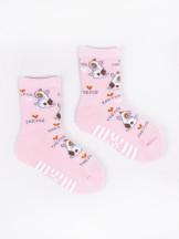 Skarpety bawełniane półfrotte dziewczęce z ABS kolorowe 6PAK