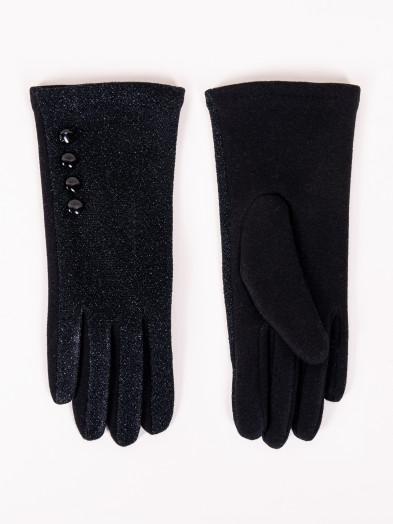 Rękawiczki damskie czarne błyszczące dotykowe