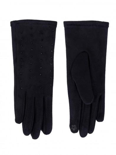 Rękawiczki damskie czarne z jetami dotykowe