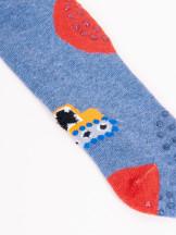 Rajstopy bawełniane chłopięce do raczkowania szaro-dżinsowe 2PAK