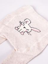 Rajstopy bawełniane dziewczęce do raczkowania z króliczkiem i serduszkami 2PAK