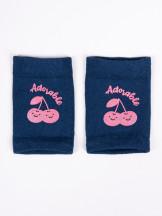 Nakolanniki do raczkowania dziewczęce półfrotte z ABS 3PAK