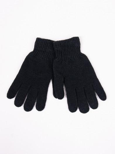Rękawiczki męskie wełniane czarne