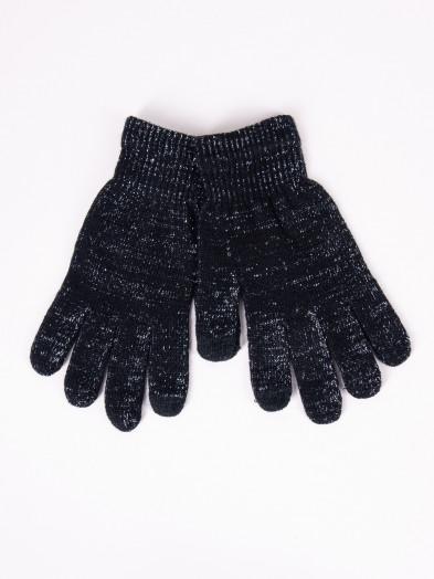 Rękawiczki damskie akrylowe dotykowe czarne