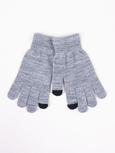 Rękawiczki damskie akrylowe dotykowe szare