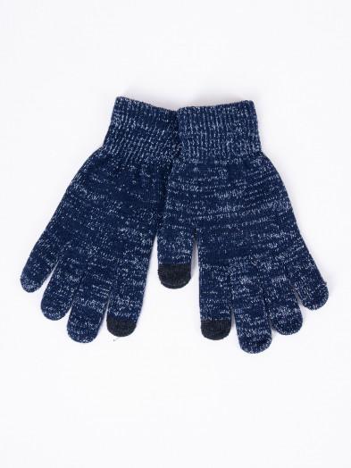 Rękawiczki damskie akrylowe dotykowe granatowe