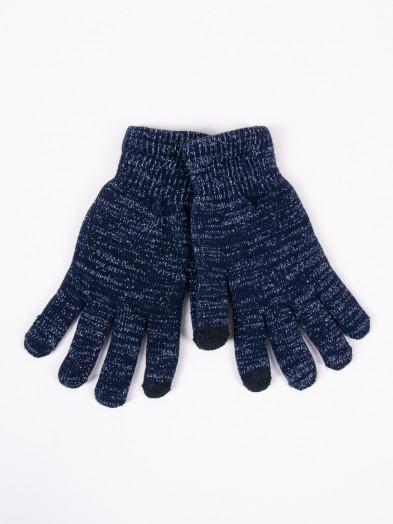 Rękawiczki damskie akrylowe ocieplane dotykowe granatowe